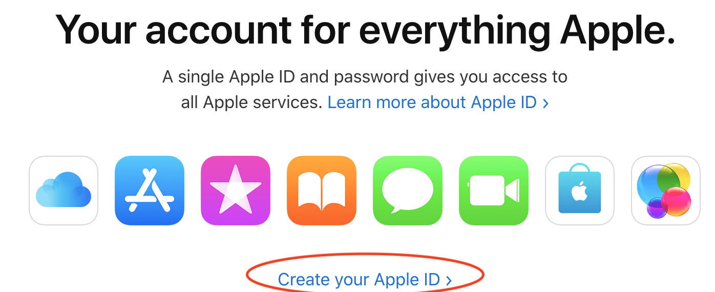 Create your Apple ID